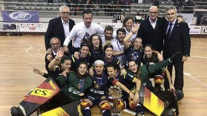La selección española femenina de hockey patines, campeona de Europa