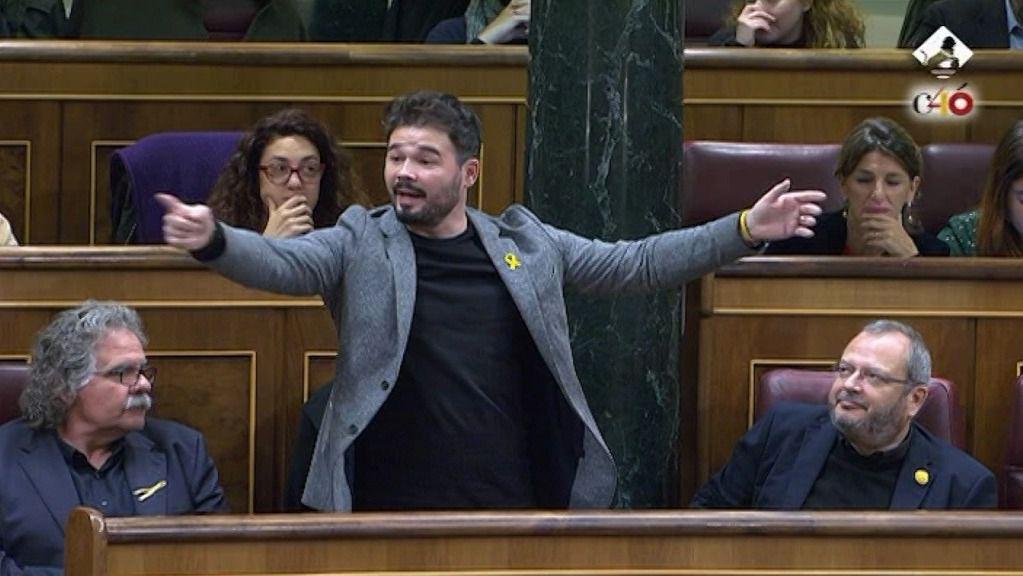 Escupitajo a Borrell y expulsión de Rufián en el Congreso de los Diputados