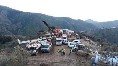 El rescate de Julen se vuelve a complicar por la dureza de materiales a excavar