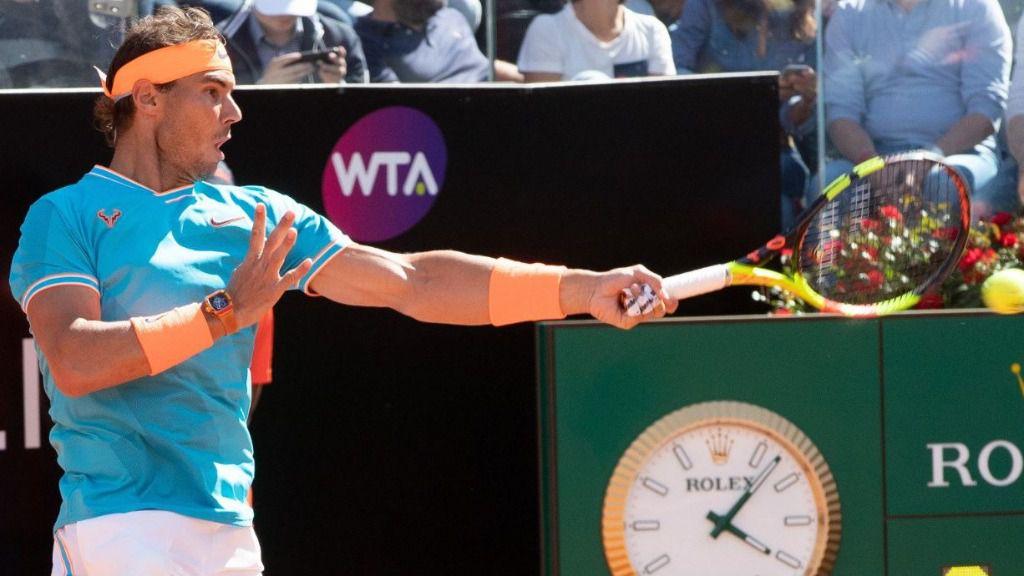 Nadal barre de la pista a Djokovic en Roma
