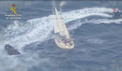 Interceptan un velero que se dirigía a Baleares cargado con 600 kilos de cocaína