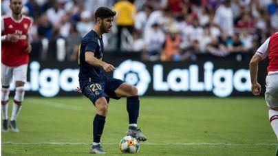 Marco Asensio en el partido de ayer