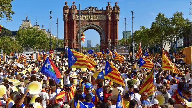 Foto de archivo. Diada de Cataluña, 2016.