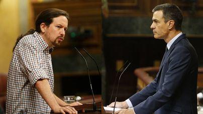 Iglesias aboga por el 'modelo italiano' de coalición y Sánchez pide a PP y Cs que 'dejen el bloqueo'