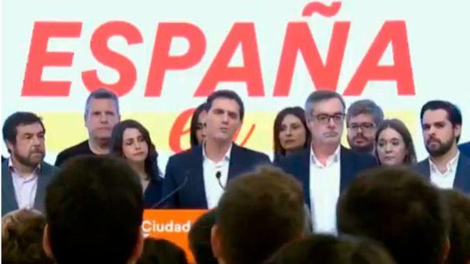 Rivera deja su futuro en manos de un Congreso Extraordinario tras la hecatombe del 10N