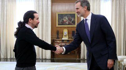 Iglesias transmite al Rey que constata 'buena voluntad' en la negociación para la investidura