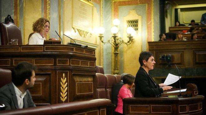 La portavoz de Bildu protagoniza un escándalo en el Congreso tras criticar al Rey