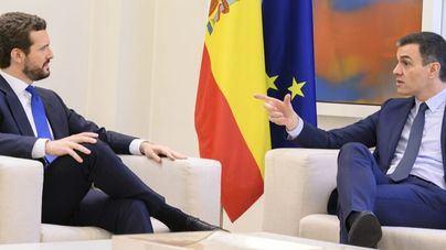 Sánchez y Casado siguen sin entenderse: ni un solo acuerdo tras 90 minutos de reunión
