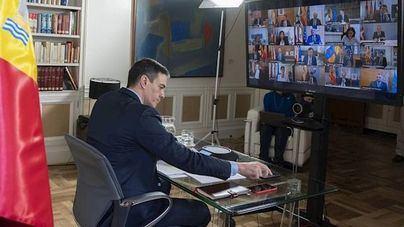 Sánchez se reúne con los presidentes autonómicos por videoconferencia