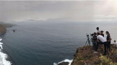 Canal Odisea graba durante estos días en La Palma
