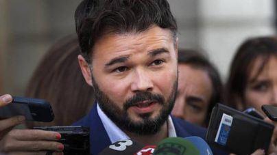 Rufián defiende crear 'un contexto' sin Cs para que ERC negocie los presupuestos
