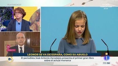 Ceses fulminantes en TVE por el rótulo que comparaba a la princesa Leonor con el Rey emérito