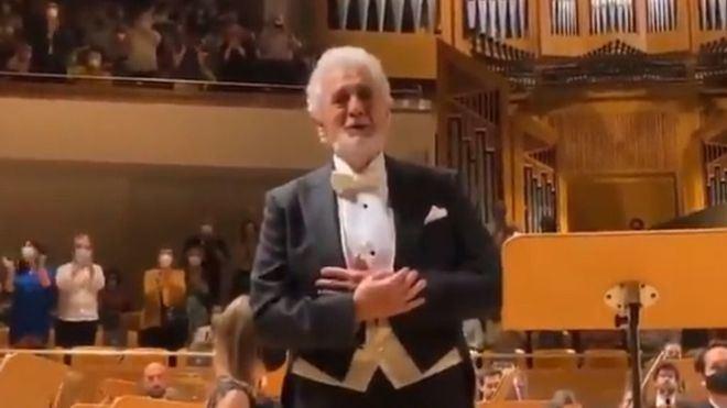 Ovación a Plácido Domingo en su vuelta a los escenarios españoles tras las acusaciones de acoso