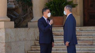 Pedro Sánchez, en Marivent para despachar con el Rey