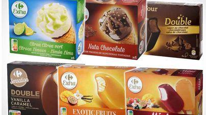 Carrefour retira lotes de 29 tipos de helado de su marca por óxido de etileno