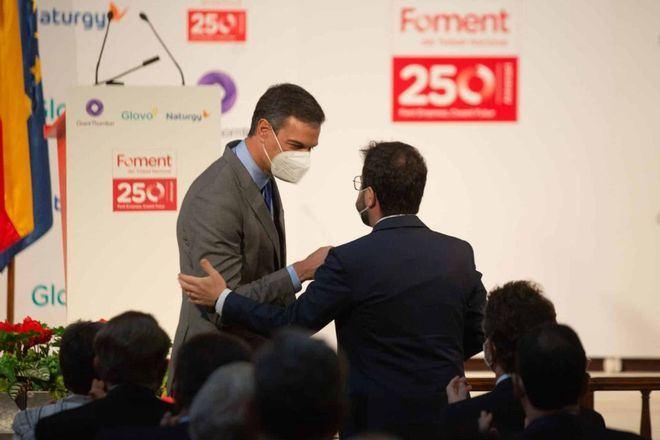 Sánchez se reúne con Aragonés para impulsar la 'mesa del diálogo' con Cataluña