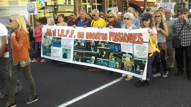 Miles de pensionistas se manifiestan por toda Canarias en defensa de unas pensiones dignas