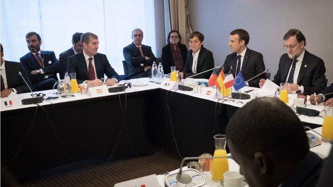 Clavijo se reune con los líderes de España, Francia y Portugal para defender el futuro de las RUP