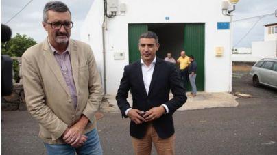 El consejero Narvay Quintero, y el alcalde de Haría, Marci Acuña