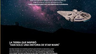Canarias se promociona con la última película de Star Wars, rodada en Fuerteventura