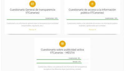 Las 98 instituciones de Canarias han autoevaluado su grado de transparencia