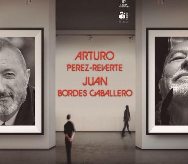 Arturo Pérez-Reverte y Juan Bordes en la edición del certamen Arona de las Artes y las Letras