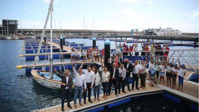 Inauguración de la primera escuela de Vela Latina de Botes en la isla de El Hierro
