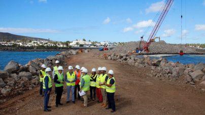 """Yaiza exige al Gobierno en el puerto: """"ritmo, cumplimiento de plazos y garantía de financiación de las obras"""""""