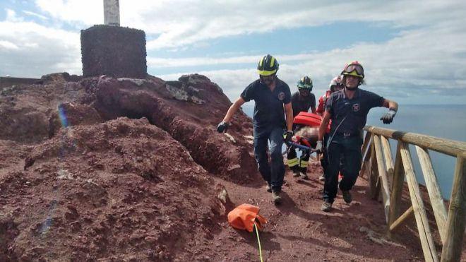Rescate de una persona en parada cardiorrespiratoria en Montaña Roja
