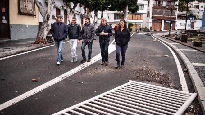 El Cabildo aportará 400.000 euros para reparar los daños causados por el temporal