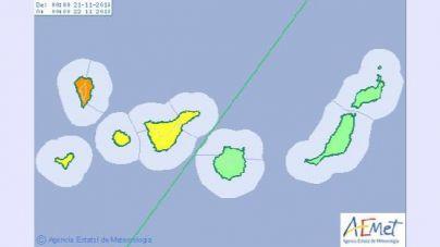 Declarada la situación de alerta por lluvias en La Palma