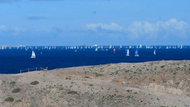 La 33 Atlantic Rally for Crusiers, ARC, navega con vientos favorables tras su salida desde LPGC