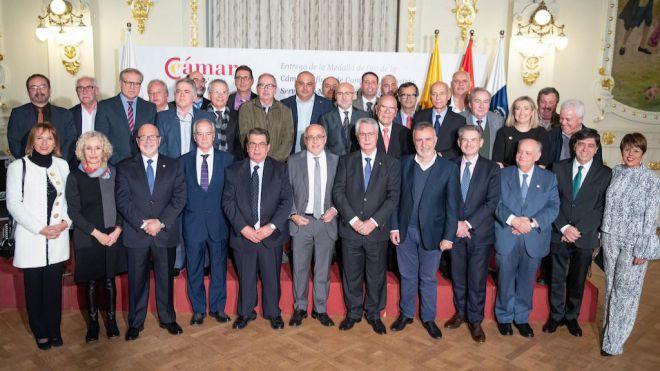 Entrega de la Medalla de Oro cameral al Cabildo de Gran Canaria