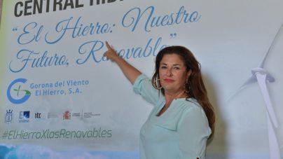Belén Allende defiende la rentabilidad económica de la Central Hidroeólica