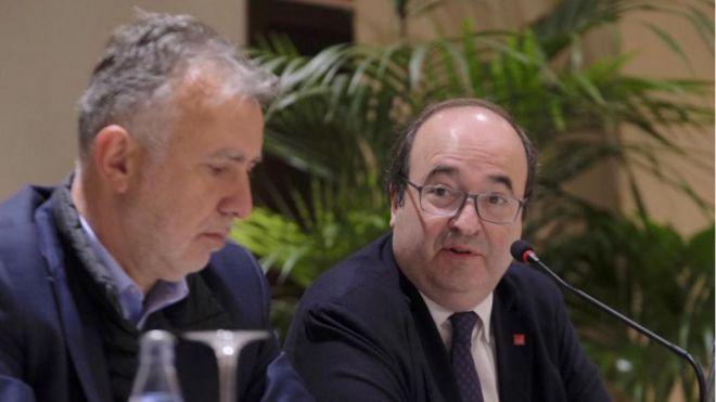 Iceta asegura que los presupuestos son mejor con Canarias que con Cataluña