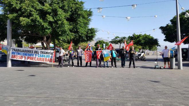 Los trabajadores del Tranvía continúan la huelga