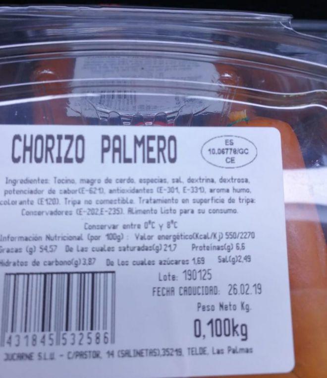 No todo el chorizo palmero es 'Hecho en La Palma'