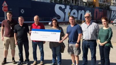 La tripulación de la plataforma Stena Drillmax dona 5.000€ a Cáritas Diocesana de Canarias