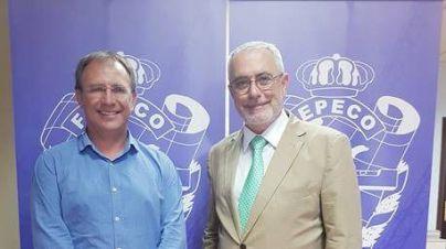 Oscar Izquierdo Presidente de FEPECO con Sergio Rodríguez Alcalde de El Paso (La Palma)