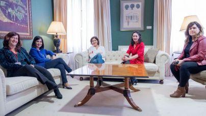 La presidenta del Parlamento se reúne con la asociación Vivas, Mujeres Canarias de la Comunicación
