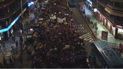 Unas 30.000 personas participan en las manifestaciones feministas