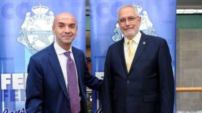 Presidente de FEPECO junto a Isidro Martín Delegado Regional de APEI