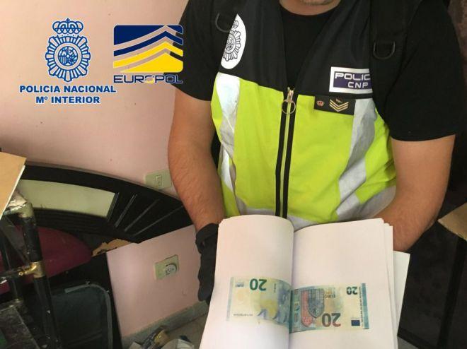 Desmantelan en Tenerife la imprenta clandestina de billetes falsos más activa de España