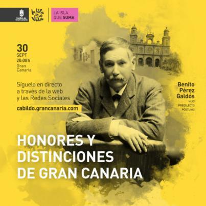 El Cabildo de Gran Canaria celebra hoy la Entrega de Honores y Distinciones 2020