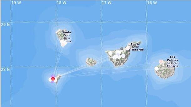 Registran hasta 33 terremotos entre Tenerife y Gran Canaria