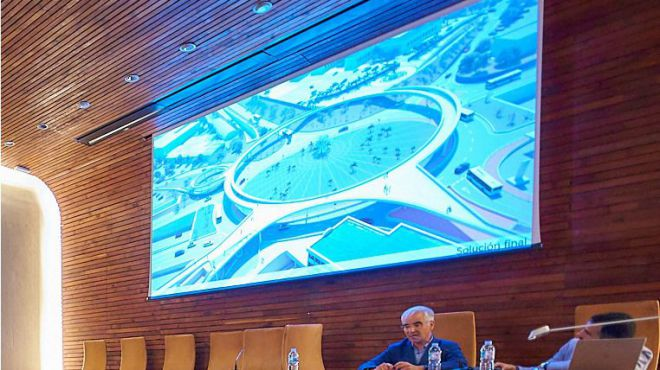 El Cabildo presenta a arquitectos e ingenieros la nueva pasarela peatonal de Padre Anchieta