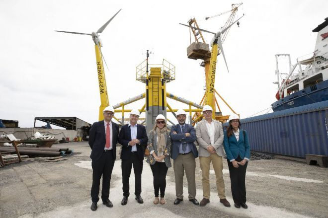 Este mes arrancan las pruebas en Canarias de la primera plataforma flotante eólica de España