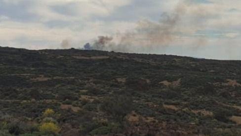 Incendio forestal en los altos de La Orotava