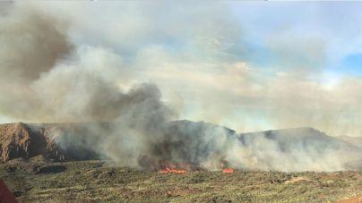 Operativo de 114 personas para combatir el incendio forestal en El Teide