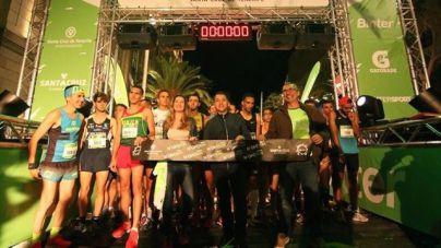 Ouais Zitane y Teresa Urbina, ganadores de la cuarta Binter NightRun de Santa Cruz